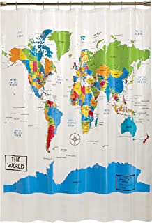 Best World Map Shower Curtain Fabric of 2020 - Top Rated ...