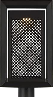 Feiss OL15107ANBZ-L1 Transitional LED Outdoor Post Lantern from Milton Collection in Bronze/Dark Finish, 10.00 inches, Mount