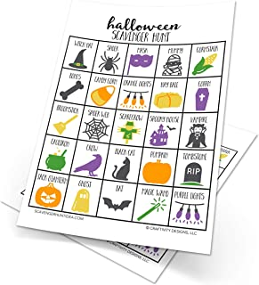 Halloween Scavenger Hunt Games for Kids, Set of 10, Halloween Party Game, Dry-Erase (10 markers included)