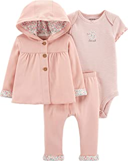 Baby Girls' 3-Piece Giraffe Little Cardigan Set - Pink...