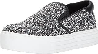 Kenneth Cole New York Womens Joanie Slip On Platform Sneaker Glitter Joanie Slip on Platform Sneaker Glitter Grey Size: