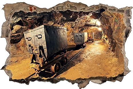 Mine Kohle Abbauen Zug Untergrund Wandtattoo Wandsticker Wandaufkleber D1014 Grosse 120 Cm X 180 Cm Amazon De Kuche Haushalt