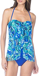 Ralph Lauren Exotic Paisley Fly Away One Piece Swimsuit, Size 16 Blue