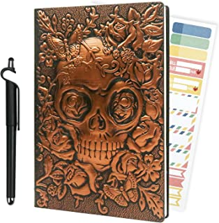 Sponsored Ad - FulltryCat Travel Journal for Writing, Vintage Leather Diary Journal Notebook with Lined Pages, Skull Gifts...
