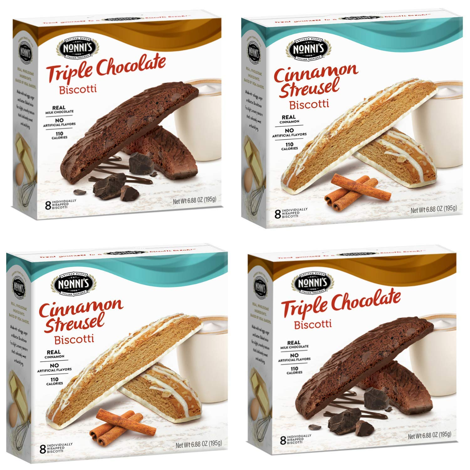 Nonni's Biscotti 4 High quality low-pricing Boxes of Wrapped 8 and Individually