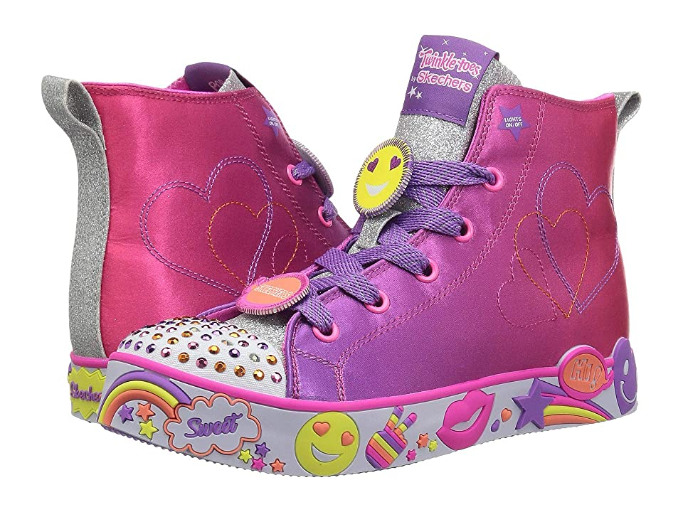 SKECHERS KIDS Twinkle Toes: Happy Lights (Little Kid/Big Kid) (Hot Pink/Purple) Girl