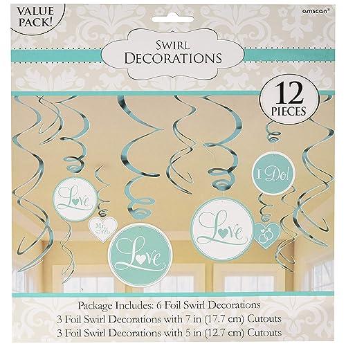 Value Pack Foil Swirl Decorations
