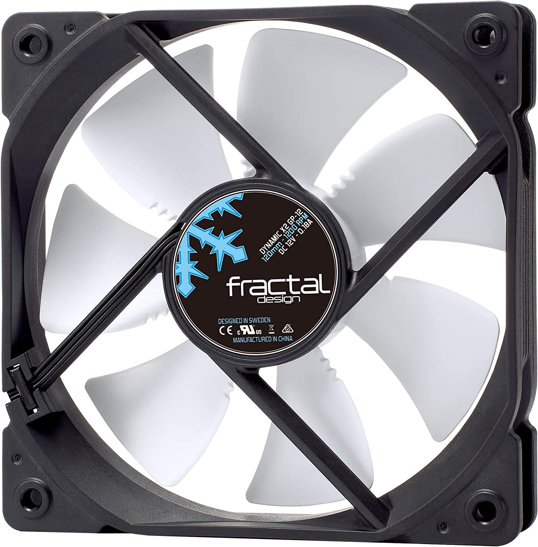 Fractal Design FD-FAN-DYN-X2-GP12-WT Carcasa del Ordenador Ventilador - Ventilador de PC (Carcasa del Ordenador, Ventilador, 12 cm, 1200 RPM, 19,4 dB, 52,3 cfm)