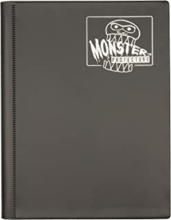 Monster Binder - 4 Pocket Matte Black Album - Holds 160 Yugioh, Magic, and Pokemon Cards