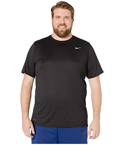 Nike Big Tall Legend 2.0 Short Sleeve Tee (Black/Black/Matte Silver) Men