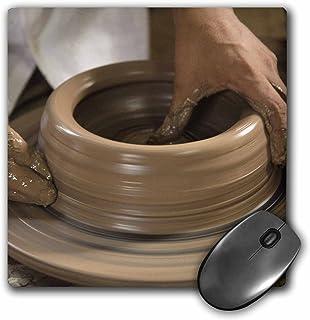 3dRose LLC 8 x 8 x 0.25 Inches Mouse Pad, Nicaragua Catarina Pottery Wheel and Clay John and Lisa Merrill (mp_86881_1)