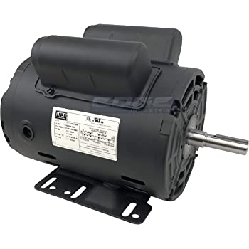 """Electric Motor 1-1//2 HP Single-Phase 3450RPM TEFC 5//8/"""" shaft General 2 pole"""