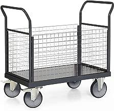 STIER Plattformwagen Premium mit 4 Gitter W/änden Tragkraft 500 kg
