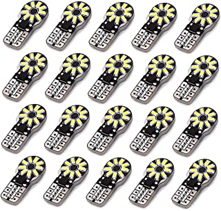 LABBYWAY 20 pcs T10 Wedge 194 168 W5W LED Bulbs, Super Bright 18-3014 Chipset, CAN-Bus Error Free, Interior Lights, License Plate Dome Map Door Courtesy Park Lights,Xenon White