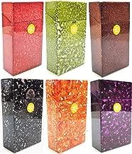 Eclipse Speckled Water Drop Design Hard Plastic Crushproof Cigarette Case, 2ct, 100s, Assorted Colors, 3117M11