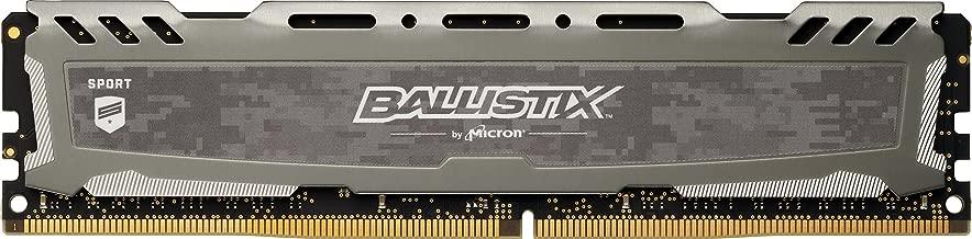 Crucial Ballistix Sport LT 2400 MHz DDR4 DRAM Desktop Gaming Memory Single 8GB CL16 BLS8G4D240FSBK (Gray)
