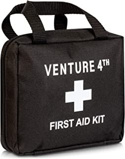 82 Piece First Aid Medical Kit for Home, Business, Travel, Camping, Vehicle, Kids. OSHA Compliant 2019 Small First Aid Kit in Nylon Bag. Includes Guide, Scissors, Tweezers, Bandages, Gauze, Tape