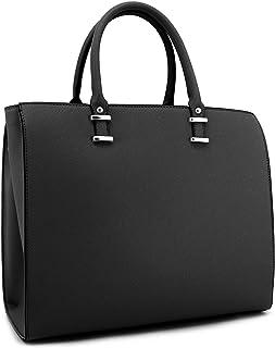 Vanessa & Melissa Klassische Damen Handtasche aus hochwertigem Kunstleder in Saffiano Optik