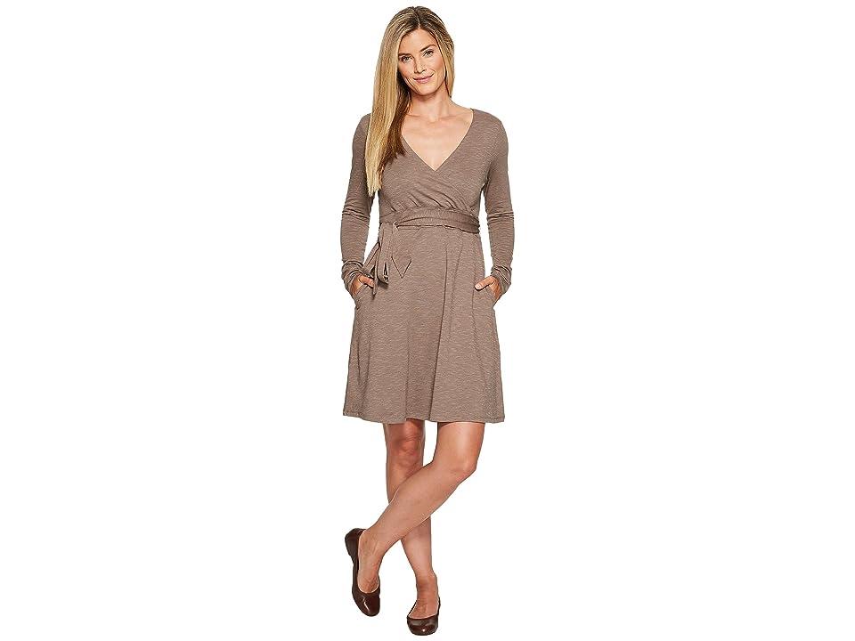 Toad&Co Cue Wrap Dress (Falcon Brown) Women
