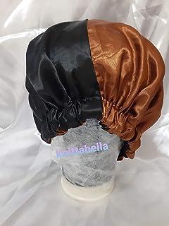 Two Tone reversible satin bonnet for hair/ اثنين من لهجة عكسها بونيه صقيل للشعر