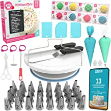 Cake Decorating Kit Cake Turntable - 78 pcs Baking Set Turntable Cake Stand - Baking Tools with Cake Turntable Rotating Ca...