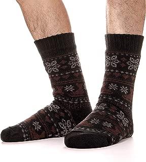Mens Fuzzy Slipper Socks Fluffy Warm Thick Heavy Fleece Lined Christmas Stockings Gift Winter Socks