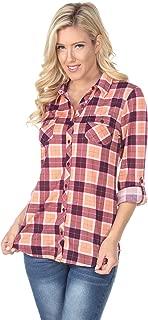 Best womens purple and orange plaid shirt Reviews