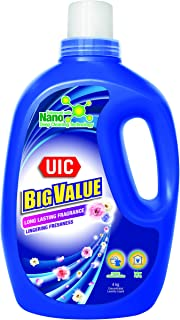 UIC Big Value Laundry Liquid Detergent (Floral Essence), 4kg