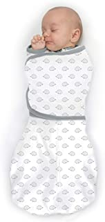 SwaddleDesigns Omni Swaddle Sack with Wrap & Arms Up Sleeves & Mitten Cuffs, Tiny Hedgehogs, Soft Black, Small, 0-3 Months