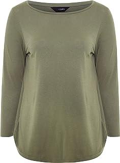 Yours - Black Cotton Long Sleeve Top - Women's - Plus Size Curve