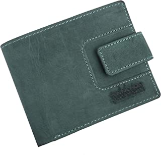 Hammonds Flycatcher Light Turquoise Vintage Leather Wallet for Men|6 Card Slots| 1 Coin Pocket|2 Hidden Compartment|2 Currency Slots|1 ID Compartment|Loop to Lock The Wallet.