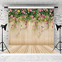 WOLADA 10x10ft Spring Wedding Backdrop Flower Wood Photography Backdrop Prop for Children Wedding Lover Photo Studio Props 8909