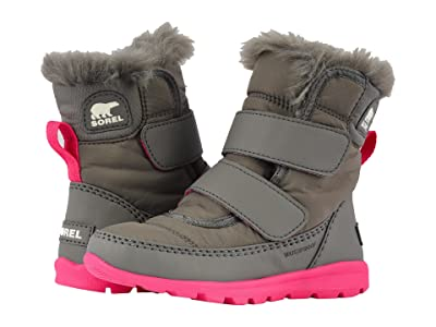 SOREL Kids Whitneytm Strap (Toddler/Little Kid) (Quarry/Ultra Pink) Girls Shoes