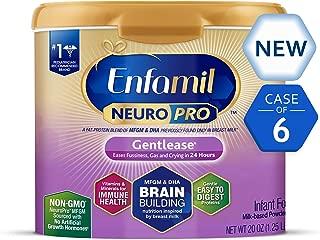 Enfamil NeuroPro Gentlease Baby Formula Gentle Milk Powder Reusable Tub, 20 oz.- MFGM,..