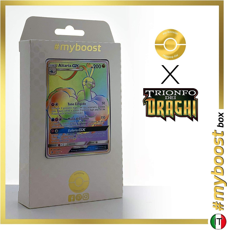 todos los bienes son especiales Altaria-GX 72 70 Arcoíris Secreta -    myboost X Sole E Luna 7.5 Trionfo dei Draghi - Box de 10 Cochetas Pokémon Italiano  el mas de moda