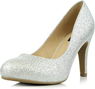 Best glitter round toe heels Reviews