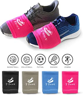 2 FEET Sock for Dancing on Smooth Floors | Over Sneakers, Smooth Pivots & Turns to Dance with Style on Wood Floors | Protect Knees | 4 Pairs, Each Pair is for a New Look Every Dance