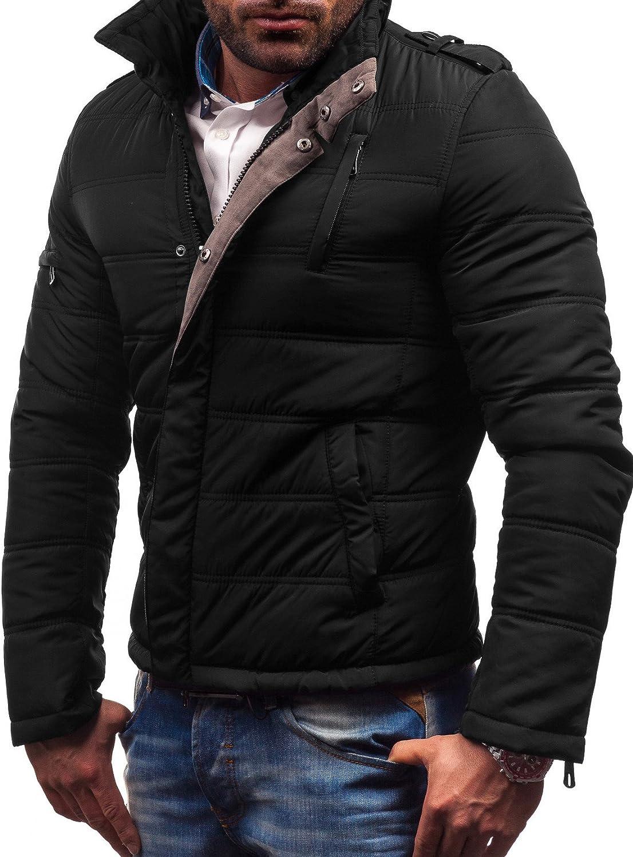 Letuwj Men`s Stylish Winter Thick Parka Zip-up Bubble Coat