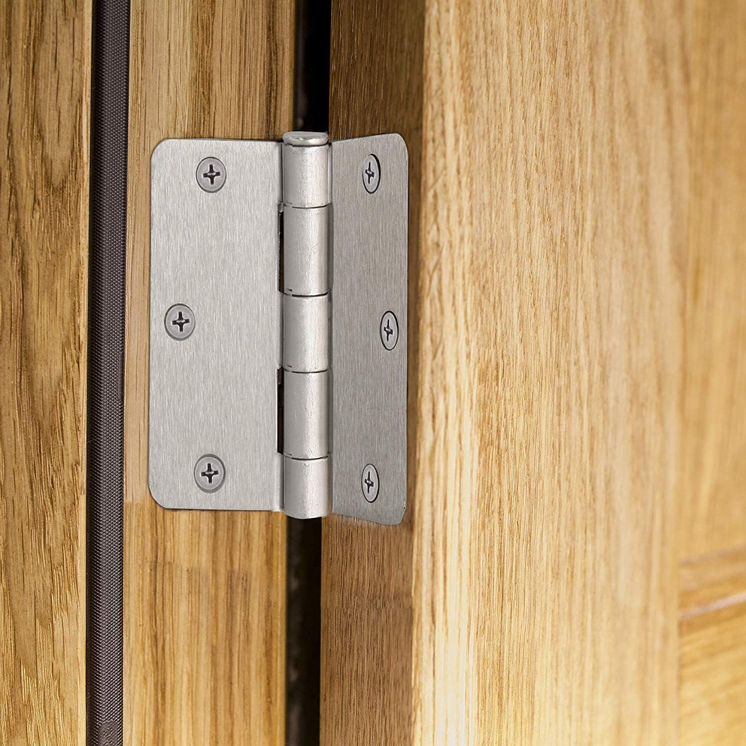 50 Pack Y/&Y Decor 3.5 x 3.5 Satin Nickel Interior Door Hinges with 1//4 Radius Corners Brushed Nickel