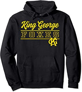 King George High School Foxes Pullover Hoodie C4