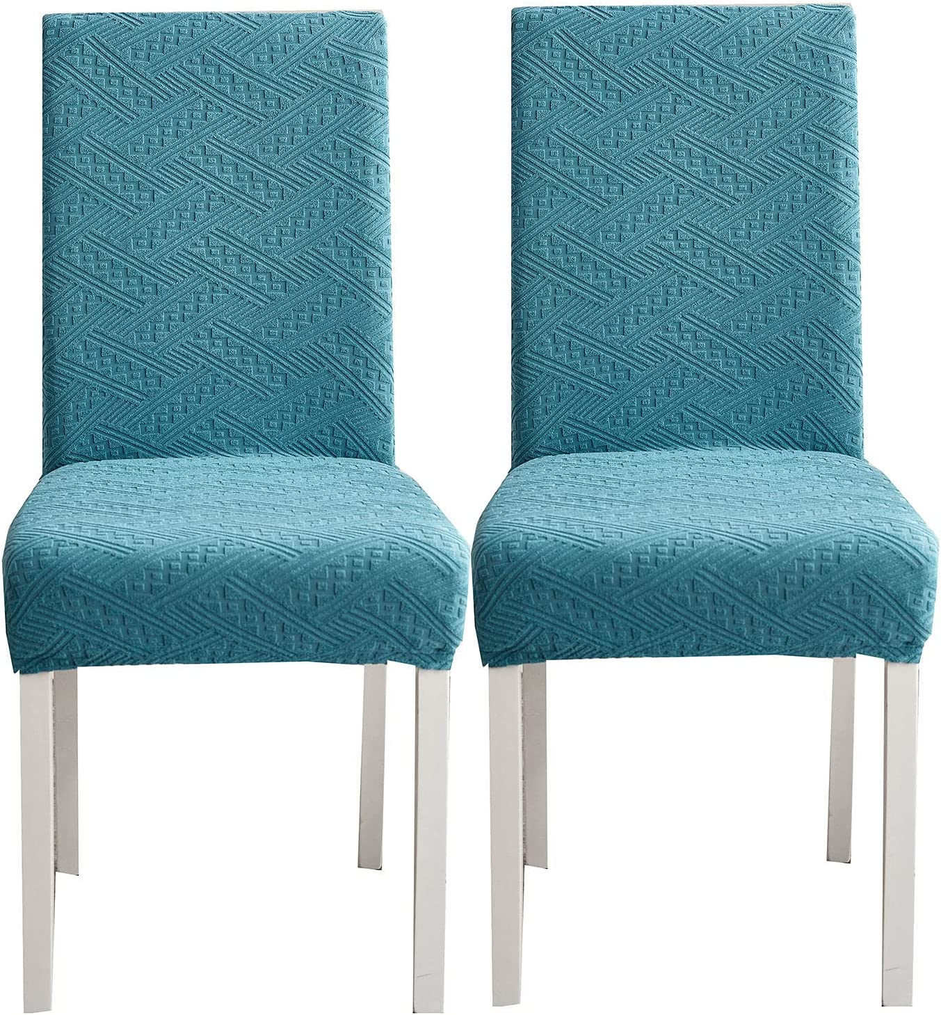 Chicago Mall Jacquard Stretch Dining Room Chair Covers 2 Max 46% OFF of D Waterproof Set