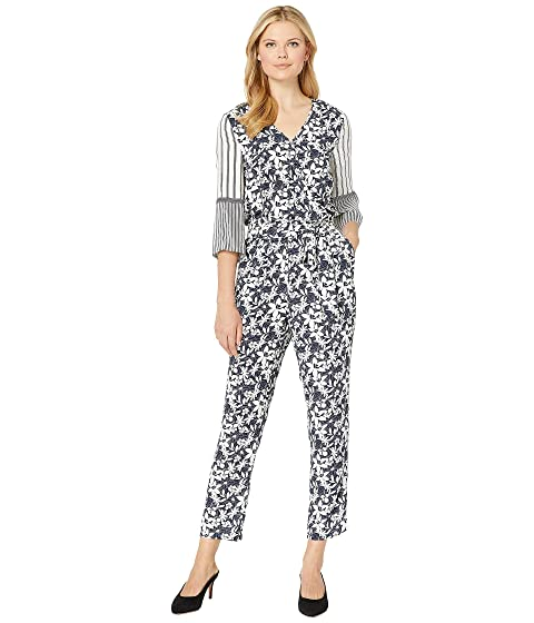 164d07603bc9 Vince Camuto 3 4 Sleeve Floral Lace Mix Print Jumpsuit at Zappos.com
