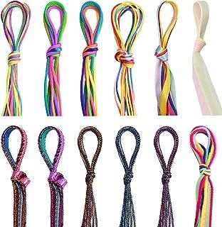 Noverlife 88PCS Colorful Hair Strings Hair Tie for Braids, Hair Thread Yarn Braiding Wire Ribbon for Dreadlock Twist, Meta...