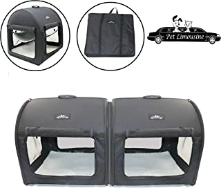 Double Pet Crate Soft and Portable Kennel Carrier The Dog and Cat Travel Tube