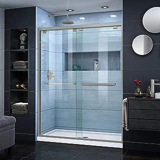 DreamLine Encore 50-54 in. W x 76 in. H Frameless Semi-Frameless Bypass Shower Door in Brushed Nickel, SHDR-1654760-04
