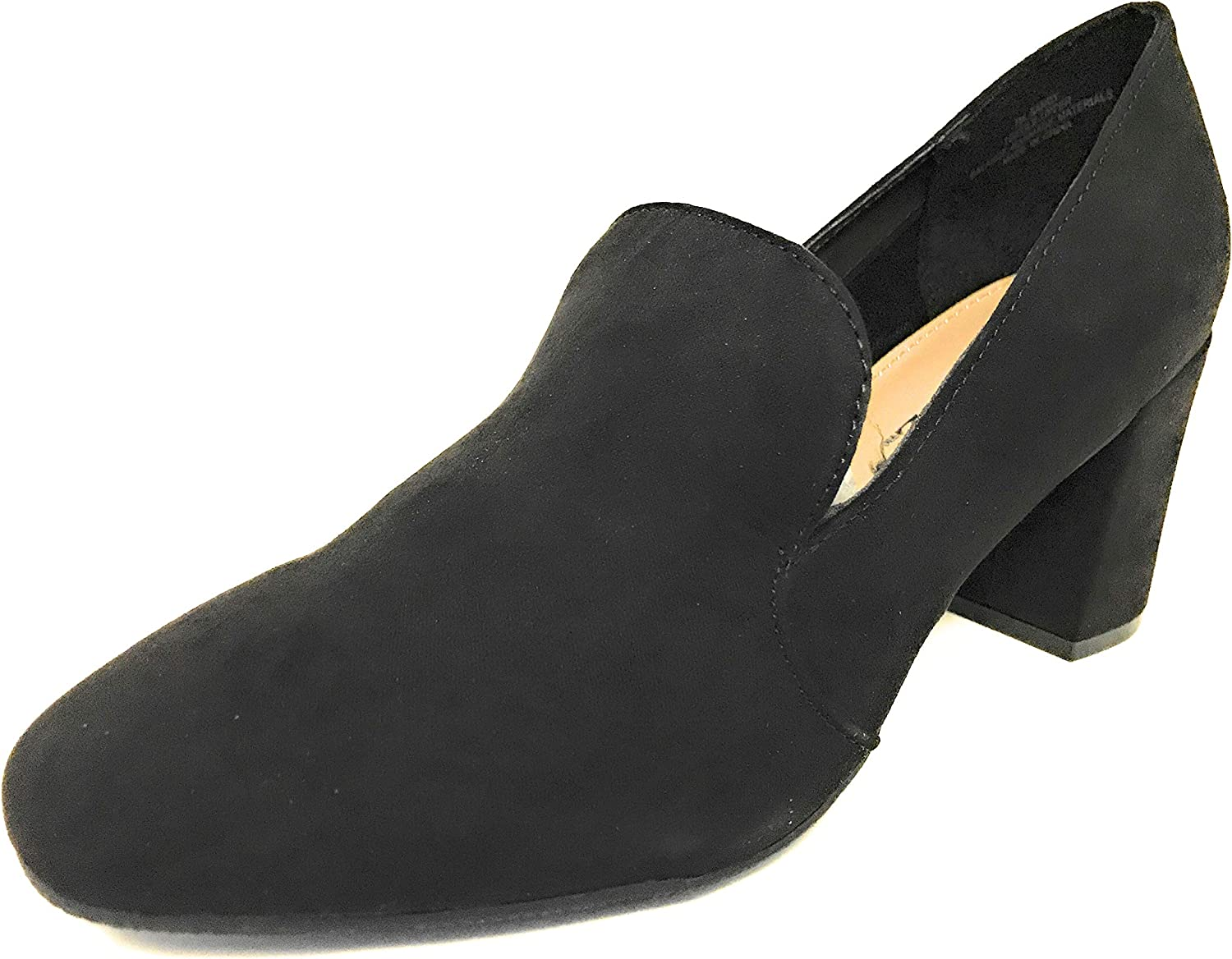 Solanz Women's Sandy Heeled Loafers Black