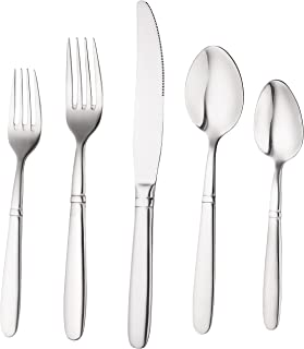 Bruntmor, CRUX Sterling Quality Silverware Royal 45 Piece Flatware Cutlery Set, 18/10 Stainless Steel, Service for 8 100% Rust Proof (45 Piece)