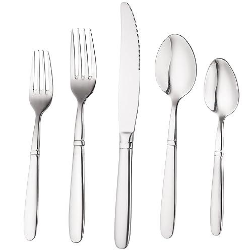 Bruntmor, CRUX Sterling Quality Silverware Royal 45 Piece Flatware Cutlery Set, 18/10
