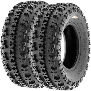 Set of 2 SunF A027 XC ATV UTV Knobby Sport Tires 22x7-10, 6 PR, Tubeless