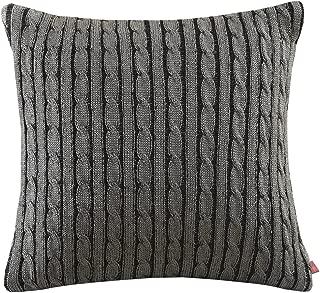 Woolrich 26 by 26-Inch Williamsport Sham, Euro, Black/Grey